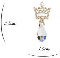 для женщин желтого золота цвет белый корона дизайн сделано с австрийской элементы капли воды кристалл серьги на день святого валентина 6843
