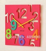 Сделай сам 3D часы домашнего декора персонализированные квадратной формы кварцевые настенные часы с арабскими цифрами