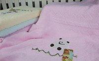 одна часть хлопок банные полотенца 140 * 70 см симпатичный медведь пляжные полотенца ванная комната красный-зеленый-синий желтый розовый цвета выбрать uhhn053