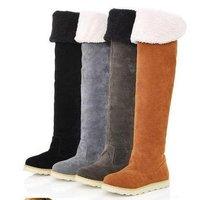 новых осенью колено высокие сапоги для женщин, зимы теплые ботинки бесплатная доставка