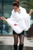 Леди мода 2011 100% вс-скрыть лисий мех и бивер кролика пальто мыс / / / / / глушитель бесплатная доставка новое поступление