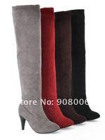 опт и розница бесплатная доставка 2011 новинка женская ботинки замшевые ботинки бедренной кости высокие сапоги классика / более-сапоги