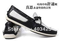 горячая новое поступление свободного покроя мужских обувная кожа лодка, мягкий дышащий обуви и мужской, бесплатная доставка smc247