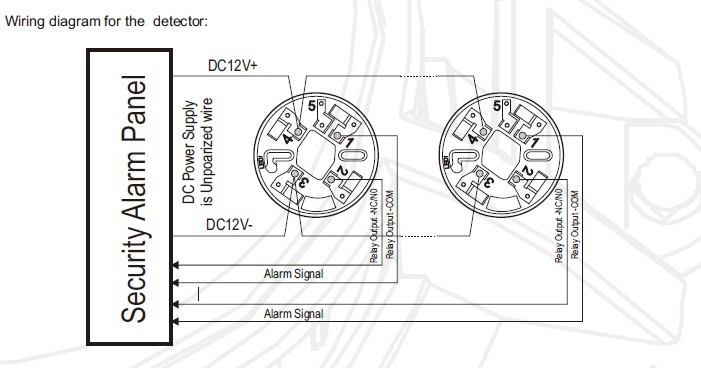 836887567_502 aliexpress com buy 4 wire conventional smoke detector with relay conventional smoke detector wiring diagram at gsmx.co