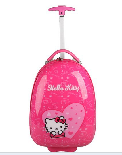 Free Shipping Cute Cartoon Kitty Cat Children S Kids Love Luggage Suitcase Trolley Travel Case Bag In Hardside From Bags On