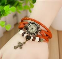 высокое качество кварц браслет крест Casa colon часы, ретро женщины наручные часы платье часы