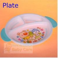 младенцы дети скольжение круто-устойчивых столовый сервиз 7 шт. посуда комплект столовые приборы посуда, чаша, плита, вилка ложка тренировка чаша бпа