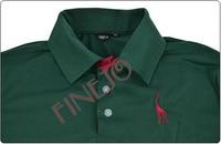 5 шт./лот мужской олень узор стильный основные тонкий-подходят с коротким рукавом футболка с отложным воротником рубашки.L, хl. ххl прямая поставка 10128