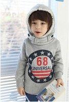 пальто стиль корея, мальчика толстовка напечатан номер 68 бесплатная доставка