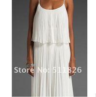 женская плиссированные сексуальное бохо макси длинное платье из шифона новый бесплатная доставка 5106