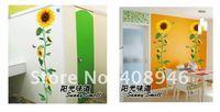 120185 бесплатная доставка цвет подсолнухи стены / магнит на холодильник / свободное сочетание съемный наклейки на стену