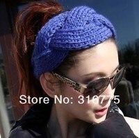 DHL / вывесьте EMS 10 цветов новинка Panic стиль женщины Hole зануда девушки вязаная повязка на голову, 100 шт./лот