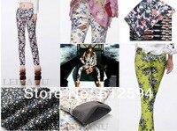 новое постулат женская мода плюс baht Crash брюки / тонкий джинсы / брюки / леггинсы с вето печати, болячки