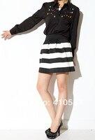 новый стиль хлопок против мода черный и белая Лос декабря зима женщины юбка юбки высокая Tale большие кэша бал платье юбка