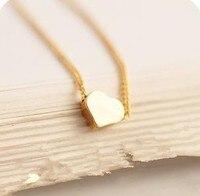 сладкий и прекрасный блестящий золото крошечный в форме сердца ожерелье un028