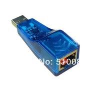 Интерфейс USB 2.0 адаптер локальной сети Ethernet через USB-порт RJ45 10 / 100 мбит для планшет пк, ноутбук, поддерживает с Win7 / ХР / линукс / андроид, бесплатная доставка