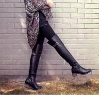 бесплатная доставка новый стиль зима обвинение кожа пряжки дизайн Ren str ноги беговых ботинки сапоги 545