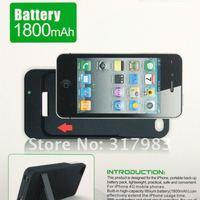 высокое качество 1800 мач аварийного портативный резервного копирования зарядное устройство в блок и USB кабель для iPhone 4 и 4S