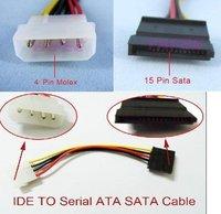 кабель питания для IDE и для SATA кабель питания 4-контакт в IDE для 15 контакт. жесткий диск с интерфейсом SATA адаптер питания кабель