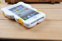 3д привет котенок милый тпу мягкий силиконовый чехол кожного покрова для iPhone 5 5-й бесплатная доставка + прямая поставка