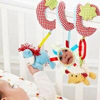 1 шт./лот детские игрушки, многофункциональный животные вокруг / токарный станок кровать повесить. безопасности зеркала / с BB устройство / кольцо бумага / зубы клей / принять тянуть