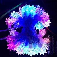 украшение праздника в RGB красочные 10 м 100 светодиодов звездные огни строки водонепроницаемый освещение + евро вилка бесплатная доставка