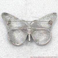 ясно кристалл горный хрусталь эмаль красивая бабочка брошка 478 а