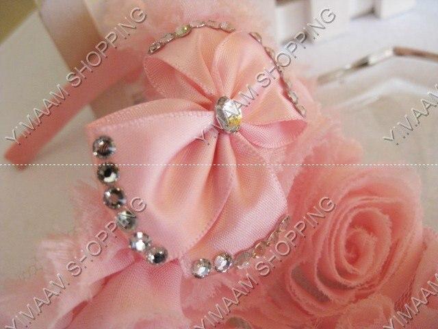 Versión coreana de la corona aro del pelo/pelo de la corona Adornos/niñas arco perla cintas para el pelo/niños Hairband