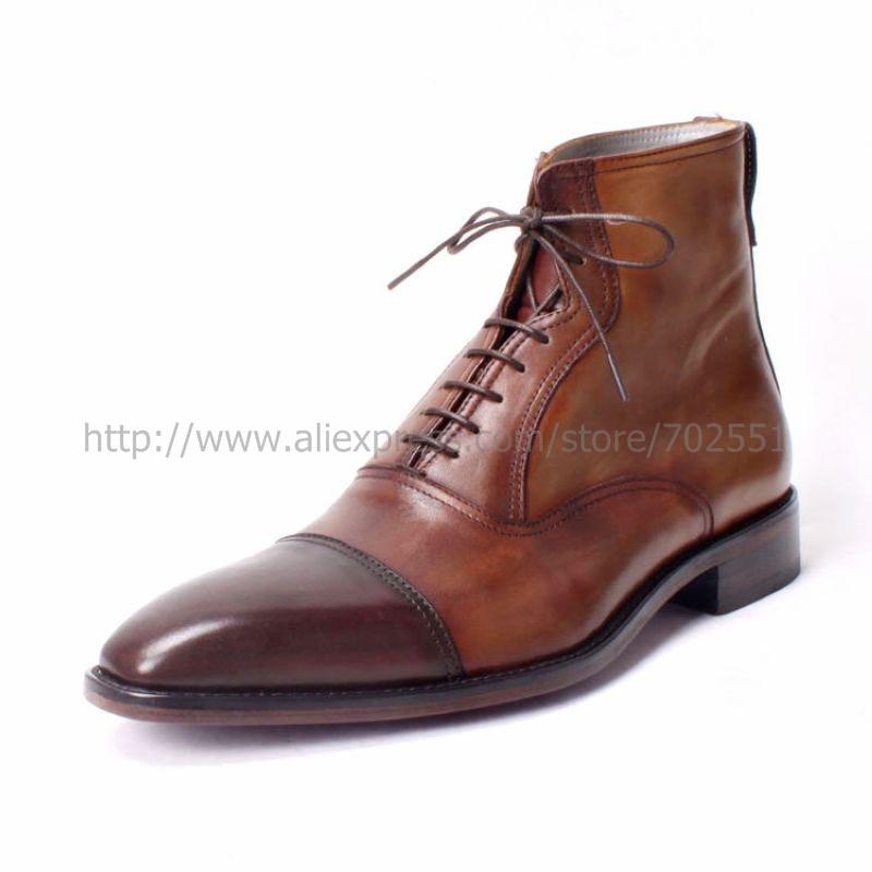 couro de bezerro superior interior masculino botas