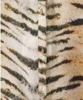 мода женская SK уплотнение с длинным рукавом с V-бюстгальтер провода тигр печать рубашка верхней части