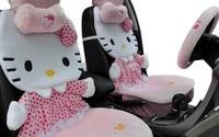 симпатичные привет Китти стороне автомобиля включает комплект универсальный применение прекрасный мультфильм автомобиля подушки сиденья покрытие автомобиля