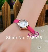 мода высокое качество роскошные женские час часы платье часы конфеты цвет небольшой кожаный ремешок изящные женщин