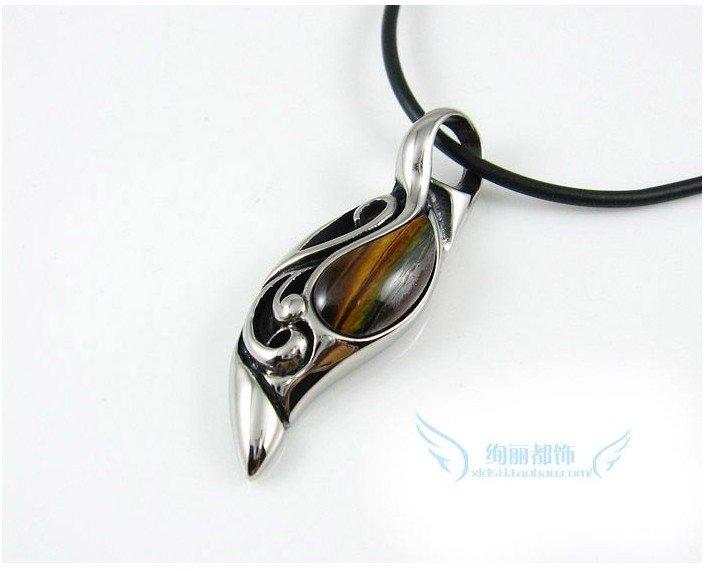 Natural black onyx tiger eye taiyangzhilei pendants men s 6g mozeypictures Choice Image