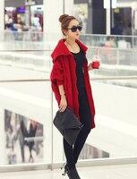 новых осенью и зимой женщин витая хвоствик в европе сваи воротник с свитер пальто