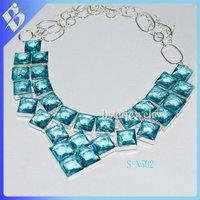 многоцветный драгоценный камень ожерелья нагрудник ожерелье заявления