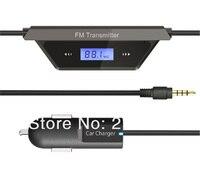 бесплатная доставка, авто МР3-плеер беспроводной FM-радио передатчик, на нескольких functin мобильный телефон FM радио передатчик + автомобильное зарядное устройство для телефон