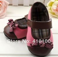 s036 горячая распродажа очень милые дети кофе - розовым бантом детская обувь мягкой подошвой детская обувь девушки 3 размер на выбор