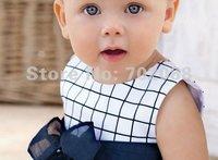 девочка без рукавов платье шотландка chirdrens' платье ребенок платье / младенцы одежда / альпинизм одежда
