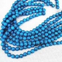 148 шт./лот, синий бирюза бусины, широкий камень бусины и аксессуары, размер : 10 мм, бесплатная доставка