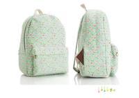дети/дети рюкзак цветы дизайнер средней школы рюкзаки девушки мило корейский печати рюкзак холст средней школы ранец
