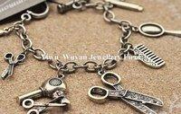 минимальный. заказ $ 15 мода старинные элемент фен зеркало гребень ножницы браслеты браслет горячая распродажа