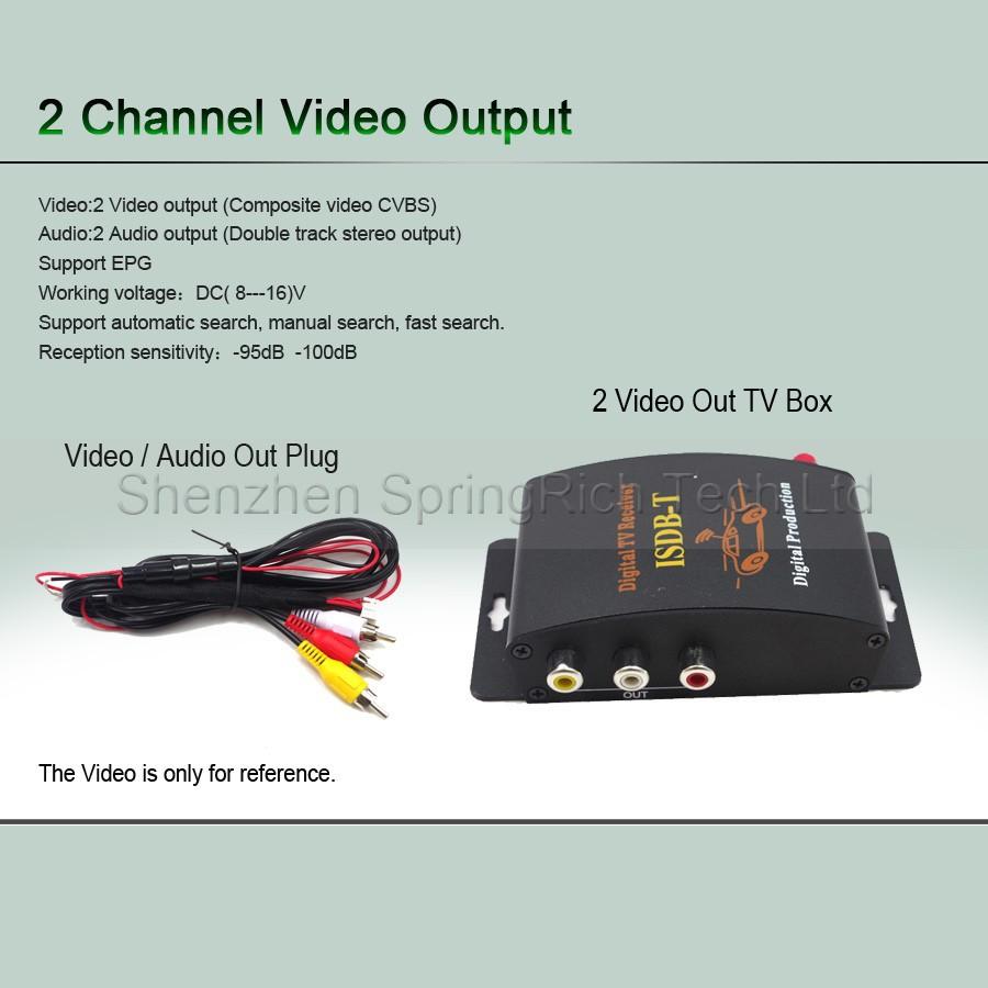 бесплатная доставка для бразилиа, южная americaisdb автомобилей тв приемник установленной верхней коробки автомобилей / MPEG-4 с прим
