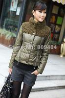 sunlun бесплатная доставка нового дизайна женская грейс меховым воротником ватные / женские короткий стиль хлопка-ребенок хлопка-ватник одежда для зим