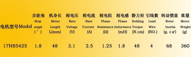 10pcs 4-lead nema 17 stepper motor 48mm 2.5A/ 70oz-in direct selling CE,ROSH