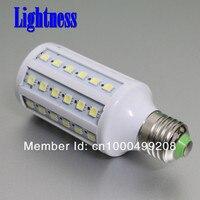 бесплатная доставка 4 шт. SMD 5050 60 шт. Curse Е27 светодиодные лампы холодный белый | теплый белый 220 в 12 вт