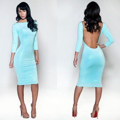 новинка женщин большой бандажное платье сексуальное из двух частей комплект синий km003 - бесплатная доставка