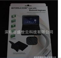 связь Bluetooth клавиатура + кожаный чехол для планшет моторола Xoom, так