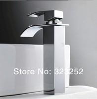 верхний модный современный одинарная ручка водопад ванная умывальник умывальник миксер затычка кран смеситель для ванны с одним отверстием a7401