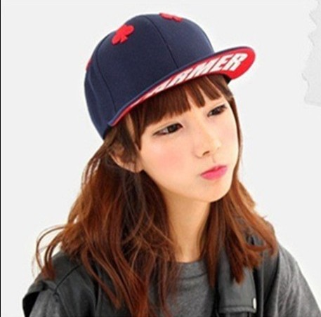 736c9af128c Free shipping 1 pcs Han edition poker baseball cap 2014 men and women  fashion hip-hop caps hats 4 colors