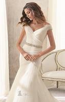 высший сорт легкость свадебное платье суд поезд женская сексуальное платье с V-образным вырезом пелерина свадебное платье
